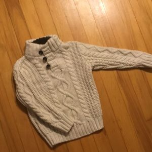 Gap Kids Cable knit w/shearling lined collar.